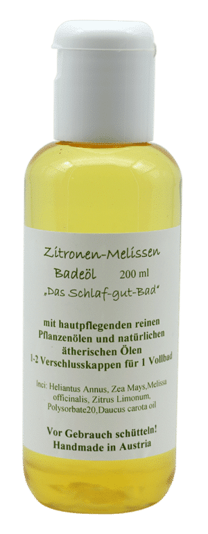 Badeöl mit ätherischen Ölen