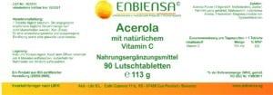 Acerola Vitamin C Lutschtabletten