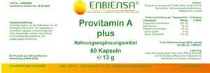 Provitamin A plus – Betacarotin